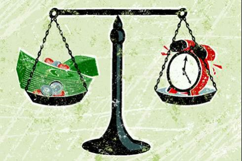 Statute of Limitations | Scales of justice balancing a clock & currency